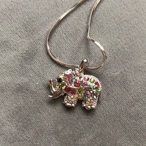 Jewelry - Multi colored elephant necklace